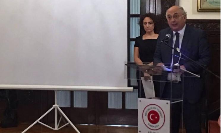 Χαιρετισμός Υφυπουργού Εξωτερικών, Γιάννη Αμανατίδη, στην Επέτειο μνήμης της 15ης Ιουλίου 2016, (Τουρκική Πρεσβεία, Αθήνα).