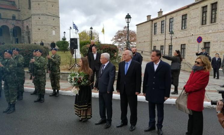 Στις εκδηλώσεις για τα 105 χρόνια από την απελευθέρωση της Σιάτιστας με τον πρόεδρο της Δημοκρατίας Προκόπη Παυλοπουλο.