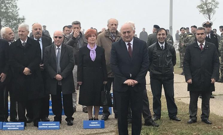 Εκπροσωπώντας την κυβέρνηση στους πανελλήνιους εορτασμούς της Ημέρας Εθνικής Αντίστασης, στη Θεσσαλονίκη.