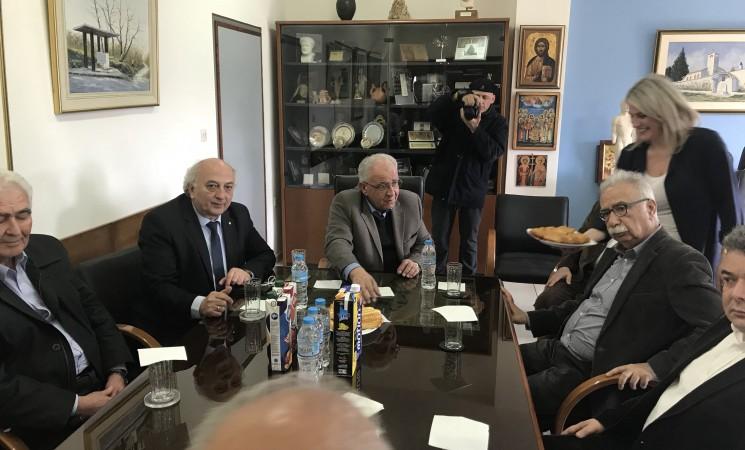 Συνάντηση στο δημαρχείο του Κιλκίς με το δήμαρχο μαζί με τον υποργό και το γενικό γραμματέα του υπουργείου Παιδείας