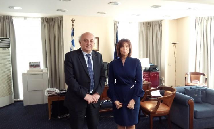 Συνάντηση Υφυπουργού κ. Γιάννη Αμανατίδη με την νέα Πρέσβυ του Λιβάνου στην Ελλάδα κα Dona Barakat