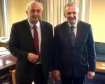 Συνάντηση Υφυπουργού Εξωτερικών, Γιάννη Αμανατίδη με τον Κύπριο Επίτροπο Προεδρίας για Ανθρωπιστικά Θέματα και Θέματα Αποδήμων, κ. Φώτιο Φωτίου