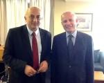 Συνάντηση Υφυπουργού Εξωτερικών, Γιάννη Αμανατίδη με τον Πρέσβη της Ιταλίας στην Ελλάδα, κ. Efisio Luigi Marras