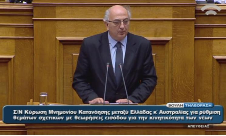 Κύρωση του Μνημονίου Κατανόησης μεταξύ της Κυβέρνησης της Ελληνικής Δημοκρατίας και της Κυβέρνησης της Αυστραλίας για τη ρύθμιση θεμάτων σχετικών με θεωρήσεις εισόδου για τη κινητικότητα των νέων (Work and Holiday Visa)