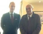 Συνάντηση Υφυπουργού Εξωτερικών, Γιάννη Αμανατίδη με τον Πρέσβη του Βελγίου  στην Ελλάδα, κ. Luc Liebaut.