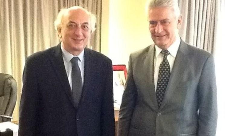 Συνάντηση Υφυπουργού Εξωτερικών, Γιάννη Αμανατίδη με τον Υπεύθυνο Τομέα Απόδημου Ελληνισμού της ΝΔ, Αναστάσιο Δημοσχάκη