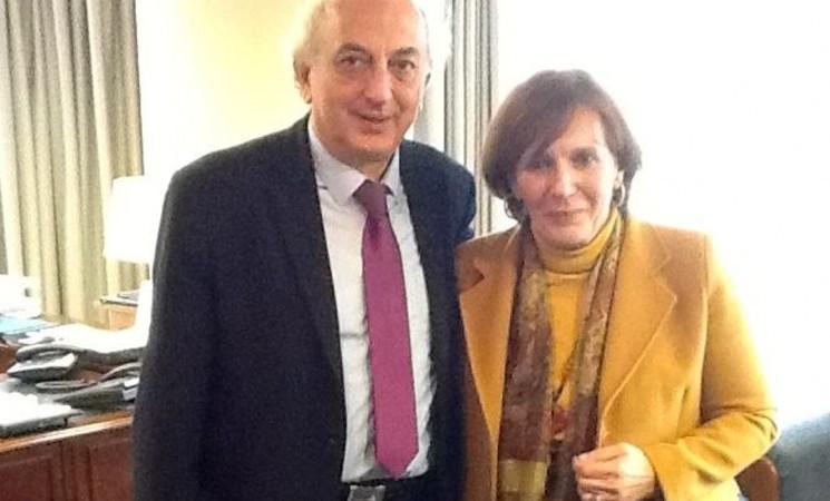 Συνάντηση του Υφυπουργού Εξωτερικών, Γιάννη Αμανατίδη με την Πρόεδρο της Ελληνικής Εθνικής Επιτροπής της UNICEF