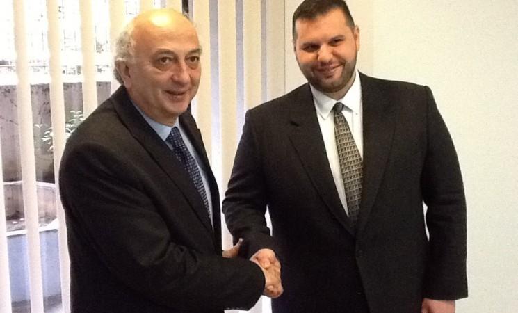 Συνάντηση Υφυπουργού Εξωτερικών, Γιάννη Αμανατίδη με τον Υφυπουργό της Ρουμανίας, Dan Stoenescu
