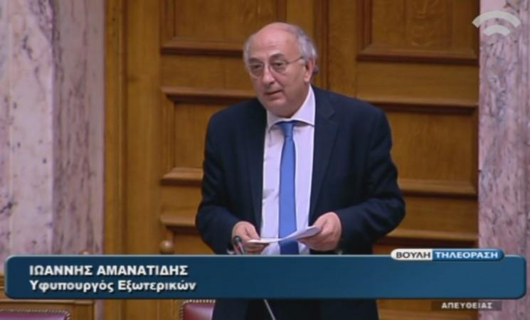 Γ. Αμανατίδης: «Το ζήτημα του ονόματος δεν μπορεί να λυθεί με όχημα την πλαστογράφηση της ιστορίας»