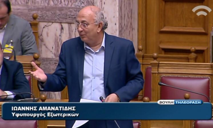 Αμανατίδης: Κύριε Παππά (Χ.Αυγή), μαθήματα για την πατρίδα και για το ποιος είναι πατριώτης από κανέναν δεν δέχομαι!