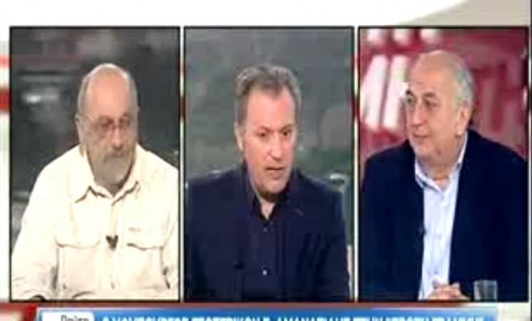 Ο Υφυπουργός Εξωτερικών Γιάννης Αμανατίδης στην Εκπομπή Πρώτη Γραμμή του τηλεοπτικού σταθμού ΣΚΑΪ με τους δημοσιογράφους Β. Λυριτζή και Δ. Οικονόμου  - 30 Ιανουαρίου 2017