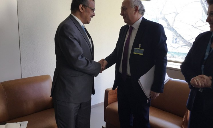Συνάντηση Υφυπουργού Εξωτερικών, Γιάννη Αμανατίδη με τον Δρ. Tedros Adhanom Ghebreyesus, Υποψήφιο για τη θέση του νέου Γενικού Διευθυντή του Παγκόσμιου Οργανισμού Υγείας (Γενεύη)