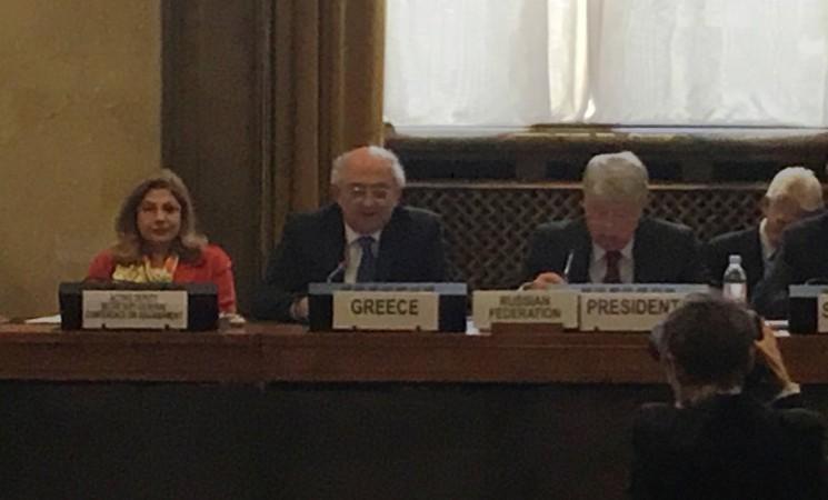 Παρέμβαση Υφυπουργού Εξωτερικών, Γιάννη Αμανατίδη στη Διάσκεψη για τον Αφοπλισμό (ΗΕ, Γενεύη)