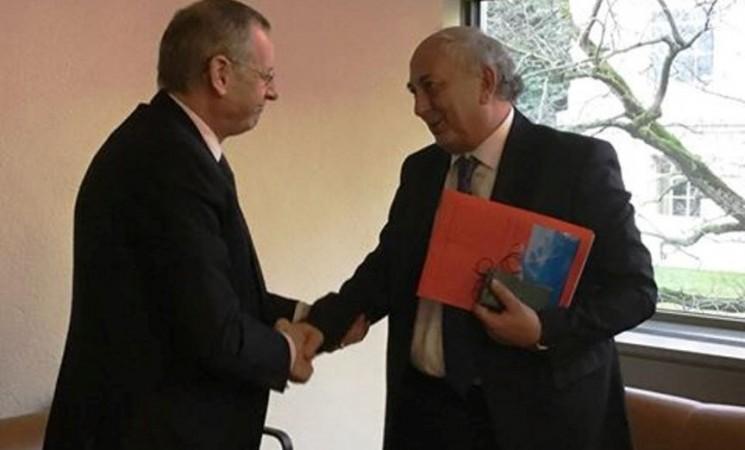 Συνάντηση με τον Γενικό Διευθυντή του Κυπριακού Υπουργείου Εξωτερικών, Πρέσβυ κ. Ζήνωνα, στη Γενεύη