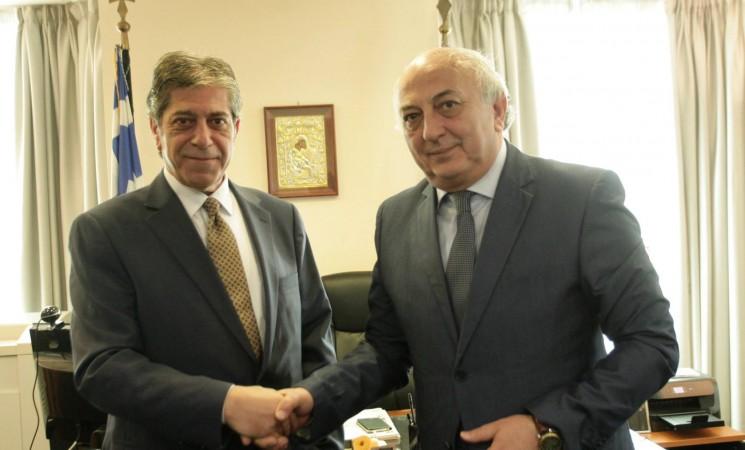 Συνάντηση Υφυπουργού Εξωτερικών, Γιάννη Αμανατίδη με τον Επικεφαλής της Διπλωματικής Αντιπροσωπείας της Παλαιστίνης στην Αθήνα, Πρέσβυ κ. Marwan Emile Toubassi