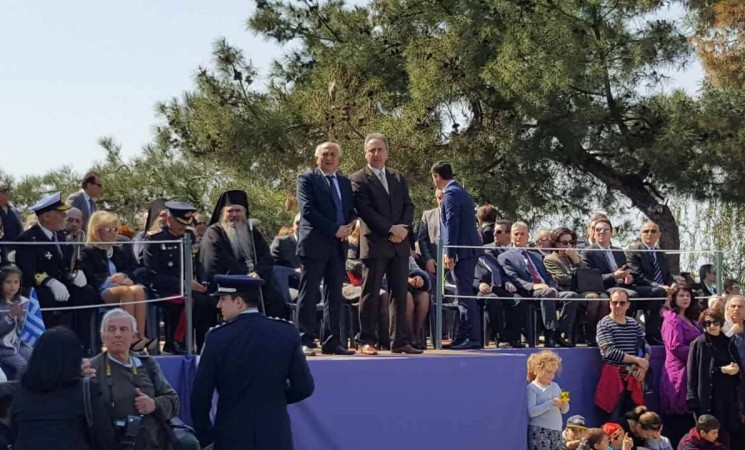 Στην παρέλαση για τον εορτασμό της εθνικής επετείου της 25ης Μαρτίου, στην Καλαμαριά. Χρόνια Πολλά!