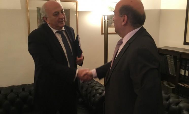 Συνάντηση με το Γεν. Γραμματέα Υπουργείου Εξωτερικών κ. Charbel Wehbe.