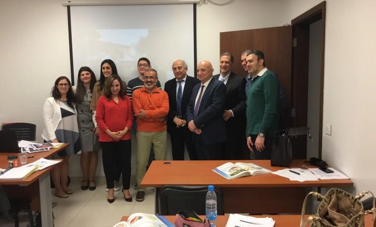Στην ελληνική κοινότητα Βηρυτού με μαθητές του τμήματος ελληνικής γλώσσας.