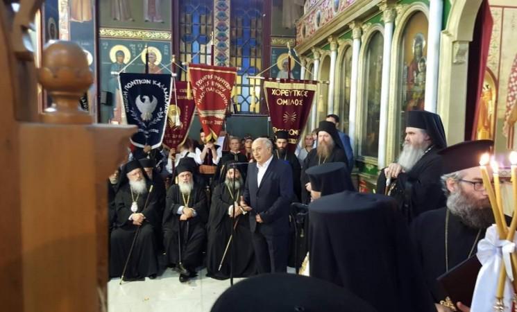 Στην Υποδοχή του Μακαριώτατου, Αρχιεπισκόπου Αθηνών και πάσης Ελλάδος κ.κ. Ιερώνυμου, στον Μητροπολιτικό Ναό Μεταμορφώσεως του Σωτήρος στην Καλαμαριά
