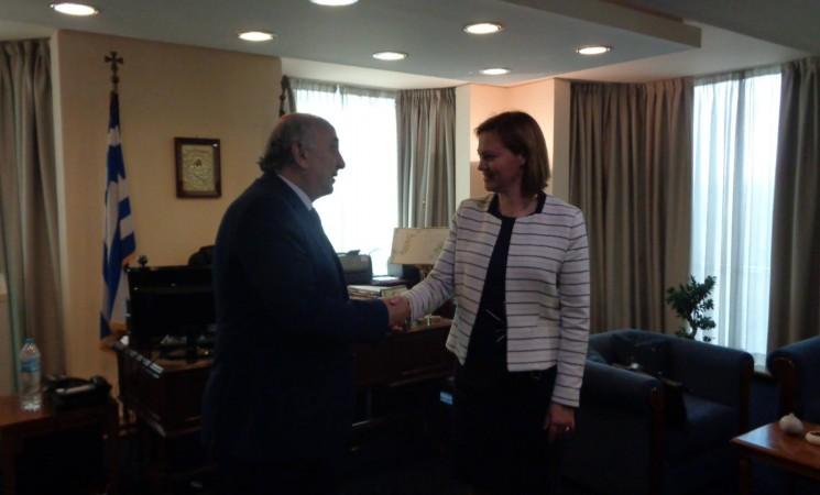 Ο Υφυπουργός Εξωτερικών, κ. Γιάννης Αμανατίδης συναντήθηκε σήμερα, Παρασκευή 9 Ιουνίου 2017, με την Υφυπουργό Εξωτερικών της Νορβηγίας, κα Marit Berger Røsland.