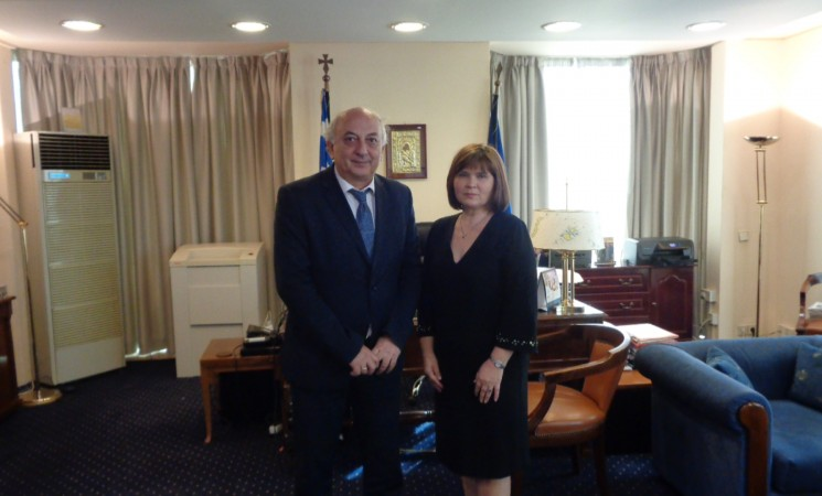 Συνάντηση Υφυπουργού Εξωτερικών, Γιάννη Αμανατίδη με τη νέα Πρέσβυ της Σλοβακίας στην Ελλάδα