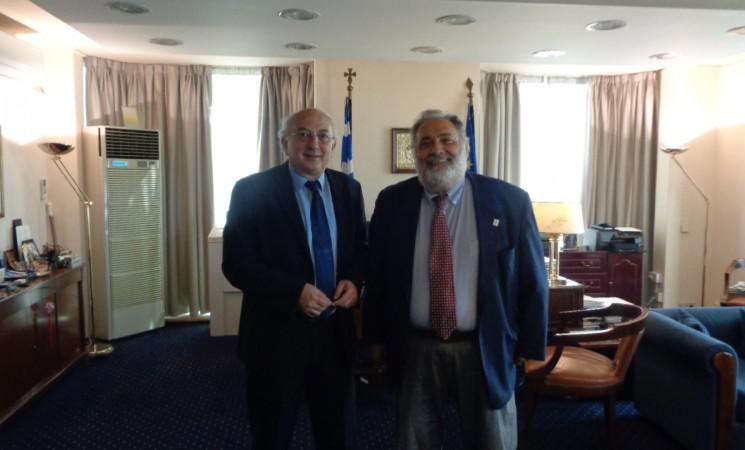 Συνάντηση Υφυπουργού Εξωτερικών, Γιάννη Αμανατίδη με τον Επικεφαλής του Διεθνούς Οργανισμού Μετανάστευσης Ελλάδας