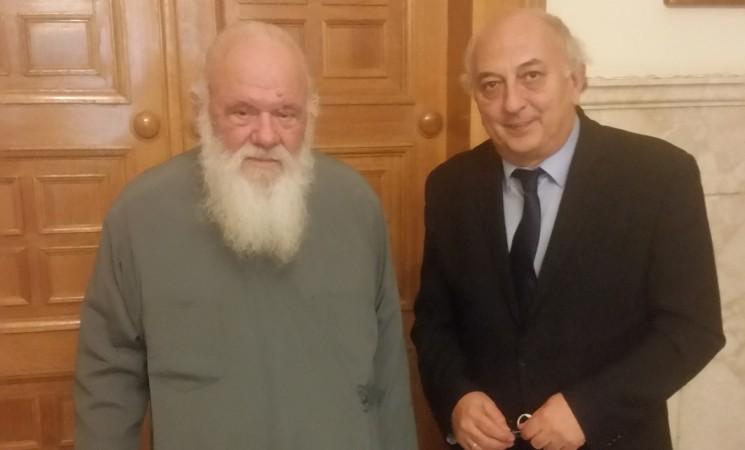 Επίσκεψη Υφυπουργού Εξωτερικών, Γιάννη Αμανατίδη στον Αρχιεπίσκοπο Αθηνών και Πάσης Ελλάδος, κ.κ. Ιερώνυμο