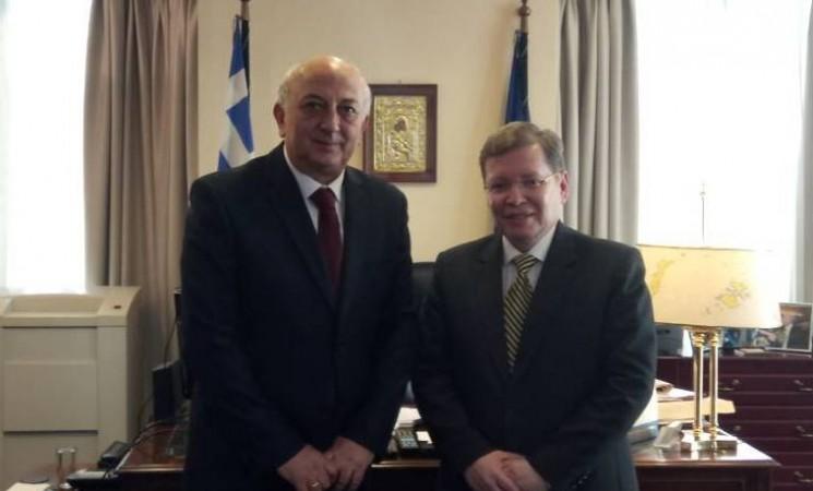 Συνάντηση Υφυπουργού Εξωτερικών, Γιάννη Αμανατίδη με τον Δρ. Julio Cesar Caballero Moreno Πρέσβη της Βολιβίας στη Ρώμη, παράλληλα διαπιστευμένο στην Αθήνα.