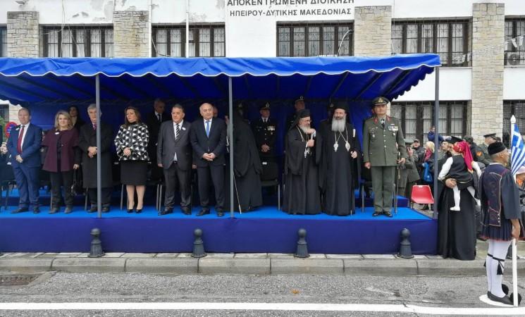 Εκπροσωπώντας την κυβέρνηση στην 105η επέτειο απελευθέρωσης της πόλης της Καστοριάς.