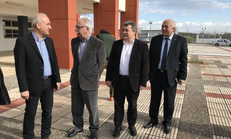 Επίσκεψη στις εγκαταστάσεις του ΤΕΙ Κιλκίς με τον υπουργό Παιδείας Κώστα Γαβρόγλου και το Γενικό Γραμματέα του Υπ. Παιδείας Γιώργο Αγγελόπουλο