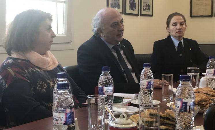 Συνάντηση με το προεδρείο του Περιφερειακού τμήματος Θεσσαλονίκης του Ελληνικού Ερυθρού Σταυρού