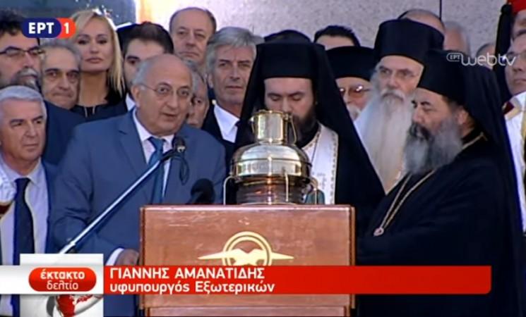 Δήλωση Υφυπουργού Γιάννη Αμανατίδη στο αεροδρόμιο «Ελευθέριος Βενιζέλος», κατά την επιστροφή στην Αθήνα