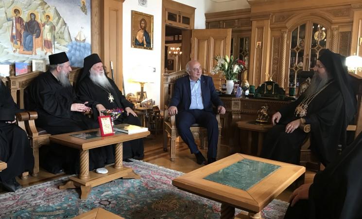 Στο Άγιον Όρος και στην Ι. Μονή Ξενοφώντος, για την εορτή του Αγίου Γεωργίου με τον Σεβασμιότατο Μητροπολίτη Λευκάδος & Ιθάκης κκ Θεόφιλο