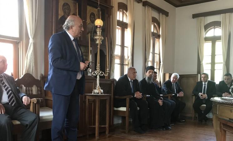 Προσφώνηση του Υφ. Εξωτερικών κ. Ιωάννη Αμανατίδη προς τον Πρωθυπουργό της Βουλγαρίας κ. Μπορίσοβ στις Καρυές