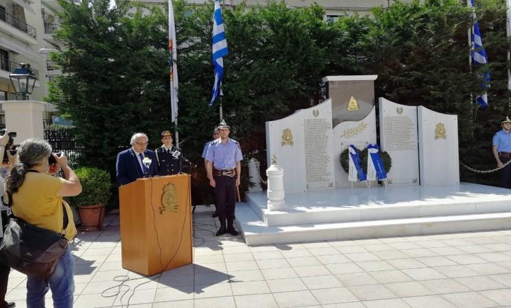 Ομιλία υφυπουργού Εξωτερικών Αμανατίδη Γιάννη στα αποκαλυπτήρια του μνημείου πεσόντων πυροσβεστών στη Θεσσαλονίκη