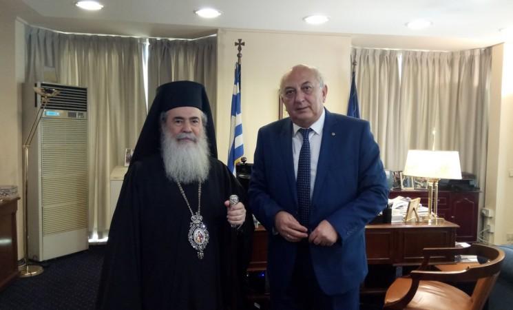 Συνάντηση Υφυπουργού Εξωτερικών Γιάννη Αμανατίδη με τον Μακαριώτατο Πατριάρχη Ιεροσολύμων κκ. Θεόφιλο – 14 Ιουνίου 2018