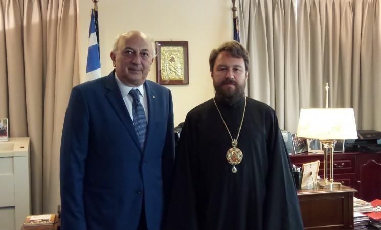 Συνάντηση Υφυπουργού Εξωτερικών κ. Ι. Αμανατίδη με τον Σεβασμιώτατο Μητροπολίτη του Βολοκολάμσκ κ.κ. Ιλαρίωνα