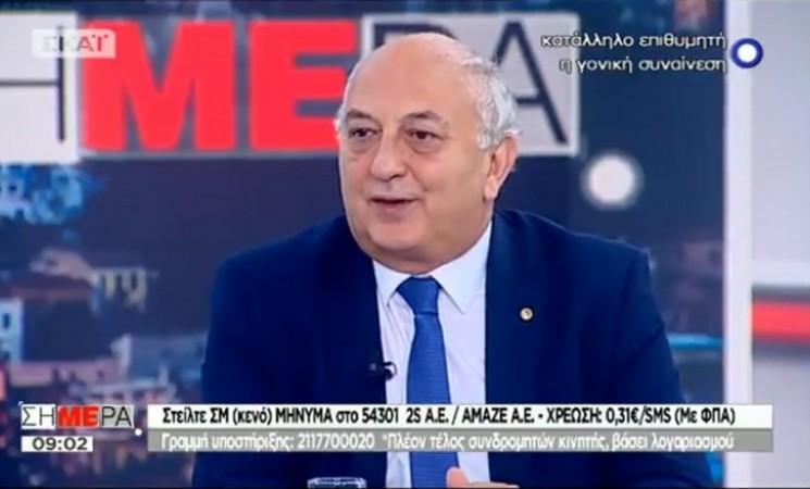Ο Υφυπουργός Εξωτερικών Γιάννης Αμανατίδης στην εκπομπή Σήμερα του τηλεοπτικού σταθμού ΣΚΑΪ - 15 Ιουνίου 2018