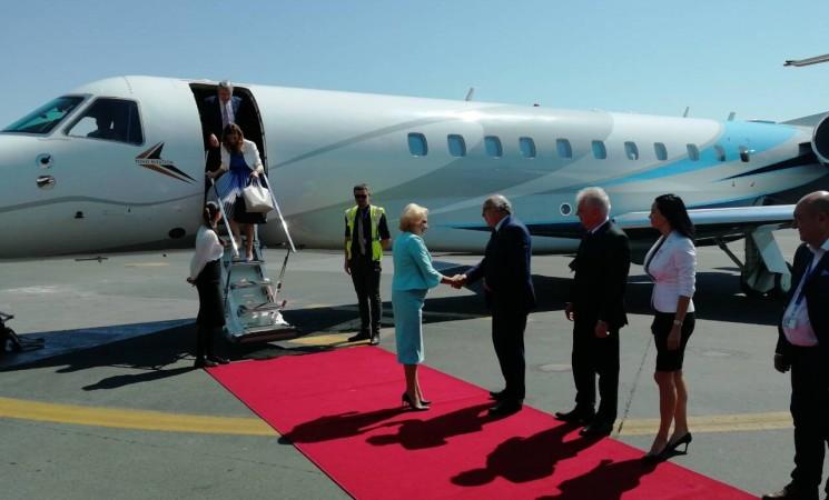 Στην Υποδοχή της Πρωθυπουργού της Ρουμανίας Βιόριτσα Ντάντσιλα