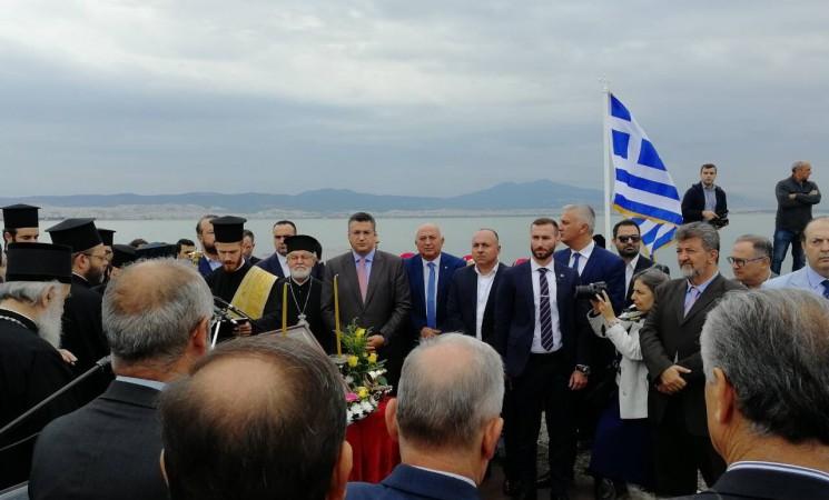 Στη λιμνοθάλασσα του Καλοχωρίου συνοδεύοντας τον Οικουμενικό Πατριάρχη Κωνσταντινουπόλεως κκ Βαρθολομαίο
