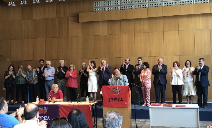 Παρουσίαση του ψηφοδελτίου της Α' Θεσσαλονίκης του ΣΥΡΙΖΑ- Προοδευτική Συμμαχία