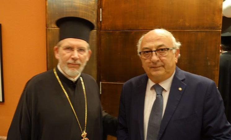Ο Γιάννης Αμανατίδης στην εκδήλωση της Αποστολικής Διακονίας για τον Άγιο Νεκτάριο