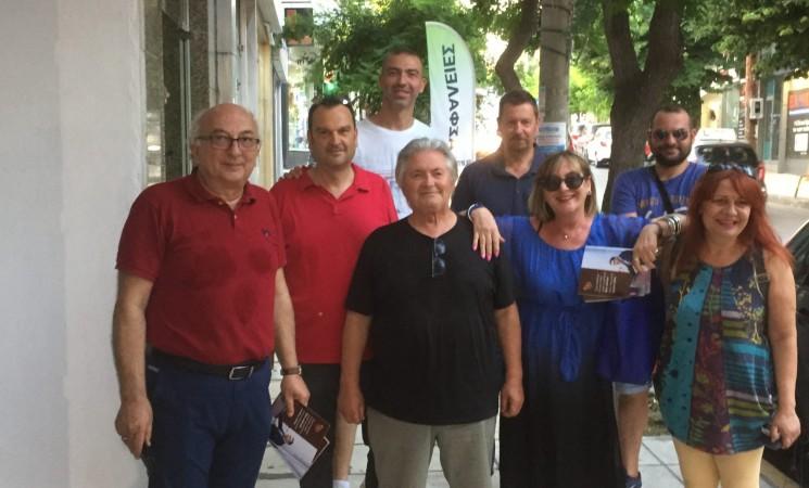 Στην Πολίχνη για το πρόγραμμα του ΣΥΡΙΖΑ «Μένουμε Όρθιοι»